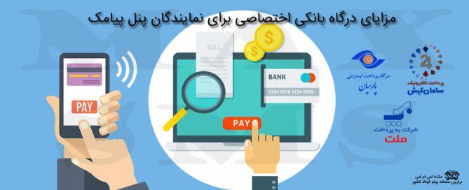 مزایای درگاه بانکی اختصاصی برای نمایندگان پنل پیامک